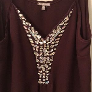 Charlotte Russe Tops - Sparkly Maroon Tank